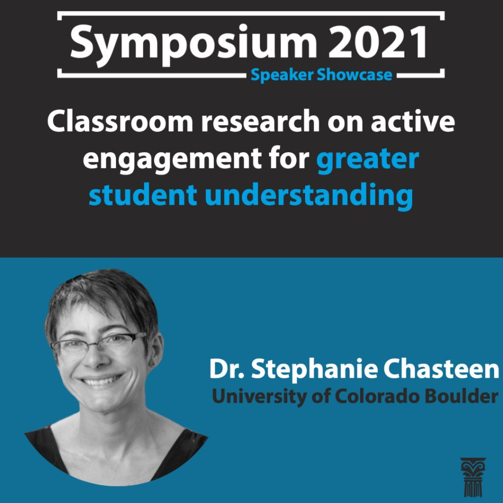 Symposium 2021 Feature Dr. Stephanie Chasteen